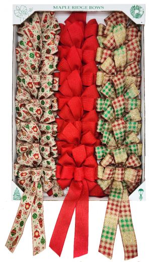 BWC09T2     Burlap Bow Wired Edge Collection  #40   8 Loop 42/box