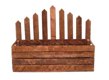 Large Picket Fence Planter