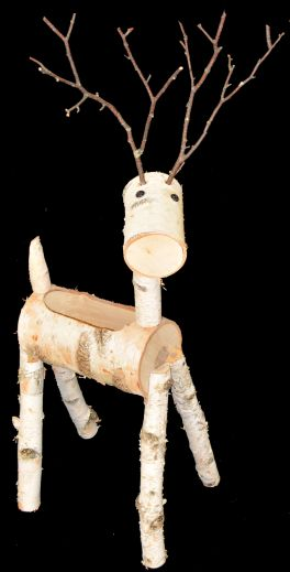 CBDPL  Birch Wood Deer Planter