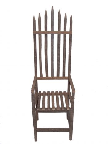 Rustic High Back Chair