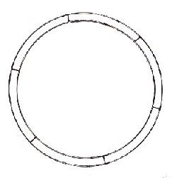 "WDF36 - 36"" Double Rail Flat Ring *Oversized"