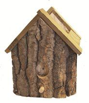 Slab Wood Birdhouse Planter