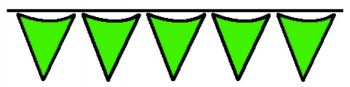 Green Pennant String