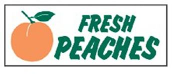 Fresh Peaches Banner