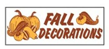 Fall Decorations Banner