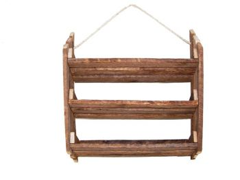 Hanging Herb Rack w/3Slanted Shelves