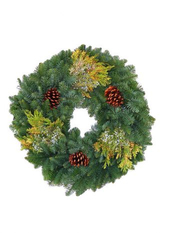 ZNMS24 - Wreath Noble Fir Mix with cones  24""