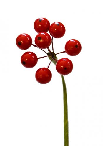 """19"""" Berry Spray with 35 Berries - RED"""