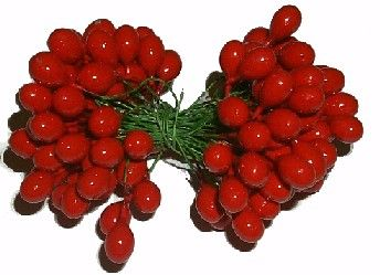 PPBRD - 9mm Holly Berries - RED - Box of 10 gross