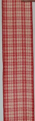 RWCRP95 Ribbon Country Red Plaid Wire-Edge #9 x 50 yds