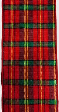 RWRCP110 Ribbon Red Country Plaid Wire-Edge #100 x 10 yds