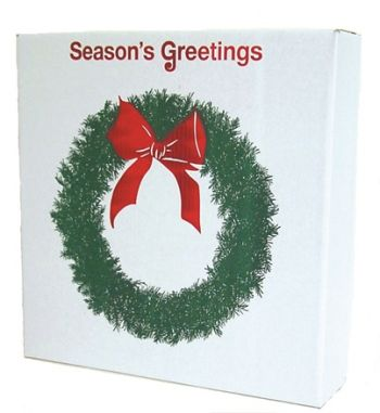 "LBP01 - 22"" x 5"" x 22"" Wreath Box (fits up to 28"" O.D. wreath) - Box of 25"