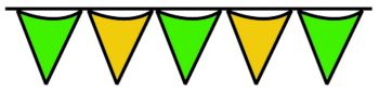 Green & Yellow Pennant String